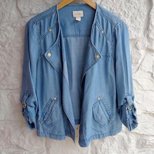 Chico's Blue Jacket, Size S/M