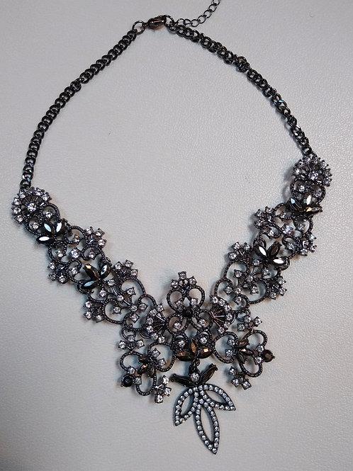 Grey & CZ Necklace