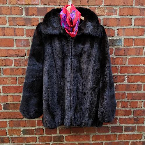Milton Cooperstein Dark Brown Mink Jacket, Size L
