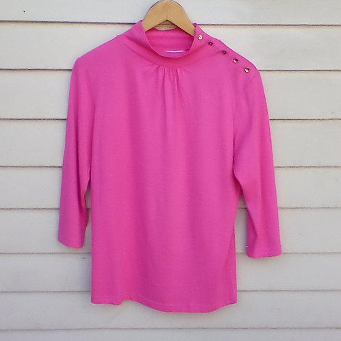 Lilly Pulitzer Pink Silk Blend Top, Fits Size M
