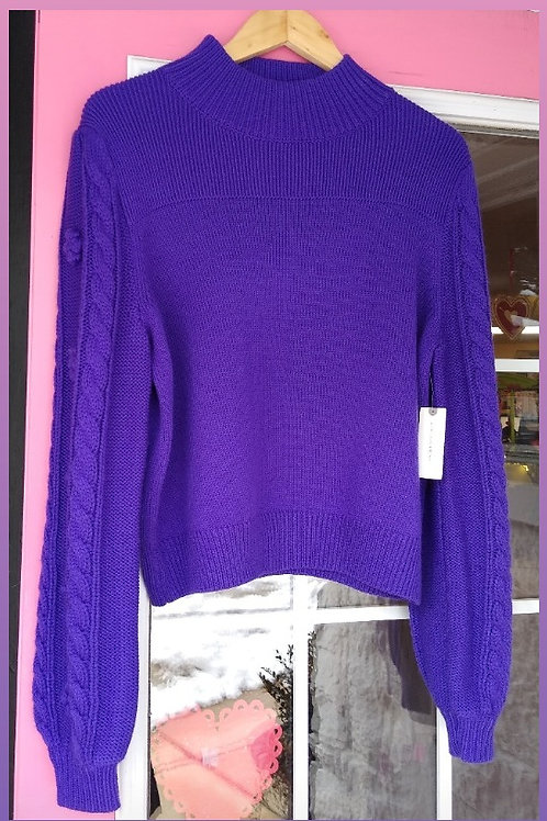 Anthropologie Purple Sweater, new with tags, Size L
