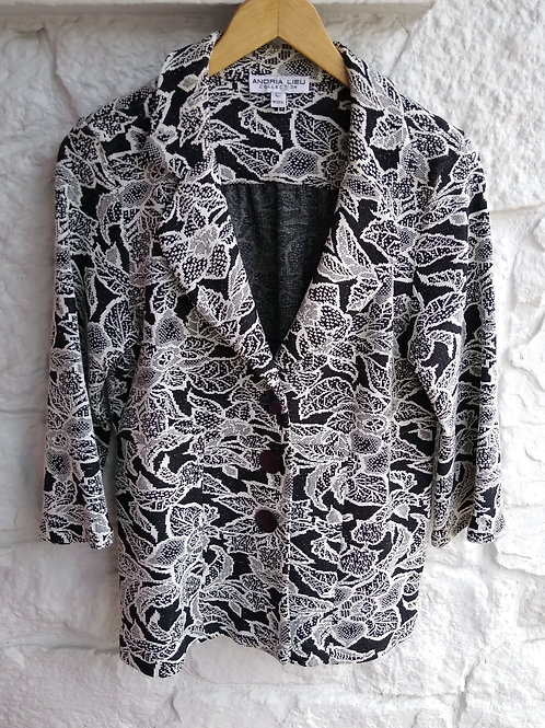 Andrea Lieu Black & White Jacket, Size L