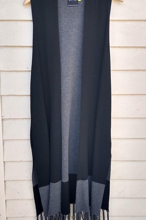 Lyssé Black Sweater Vest with pockets, Size L/XL