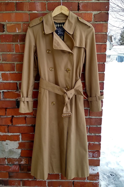 Burberry's Tan Trenchcoat, Size S