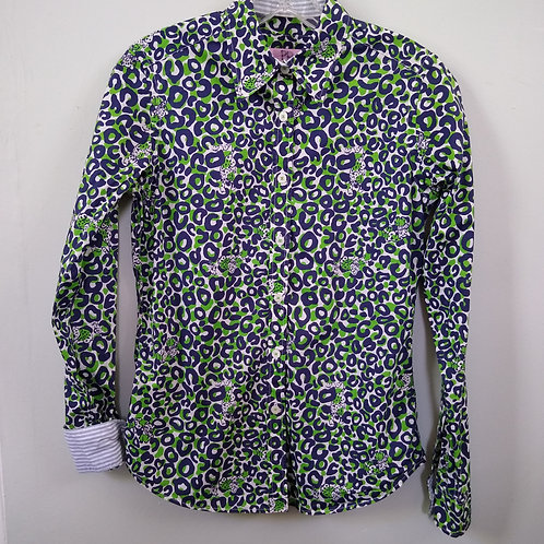 Lilly Pulitzer Blue & Green Shirt, Size 4