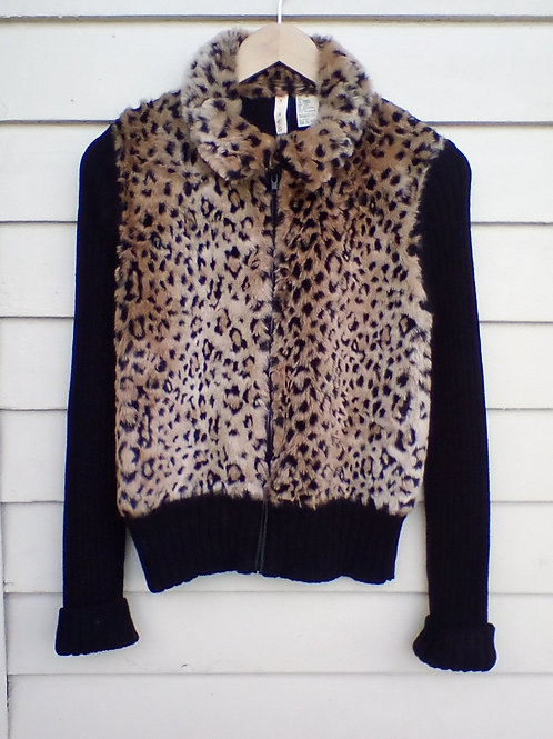 Tiara Multicolored Sweater with Faux Fur