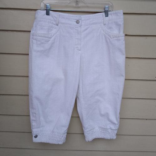 Chanel White Shorts, Size 8/10