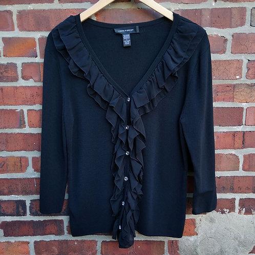 Cable & Gauge Black Sweater, Size L