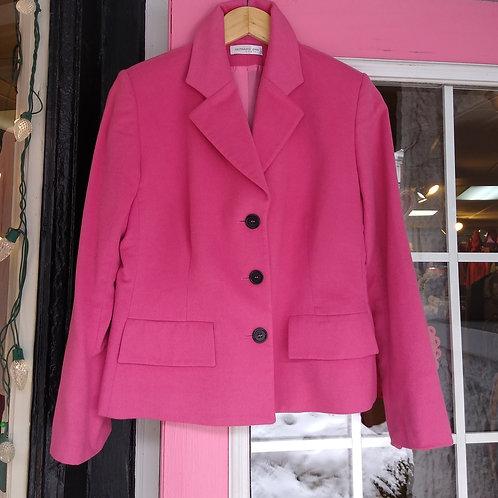 Bernard Zins Pink Angora & Wool Jacket, Size S/M