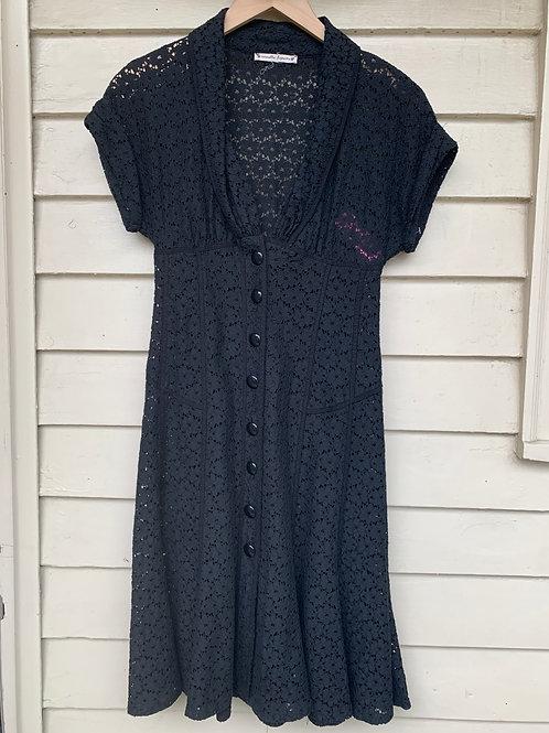 Nanette Lepore Black Lace Dress