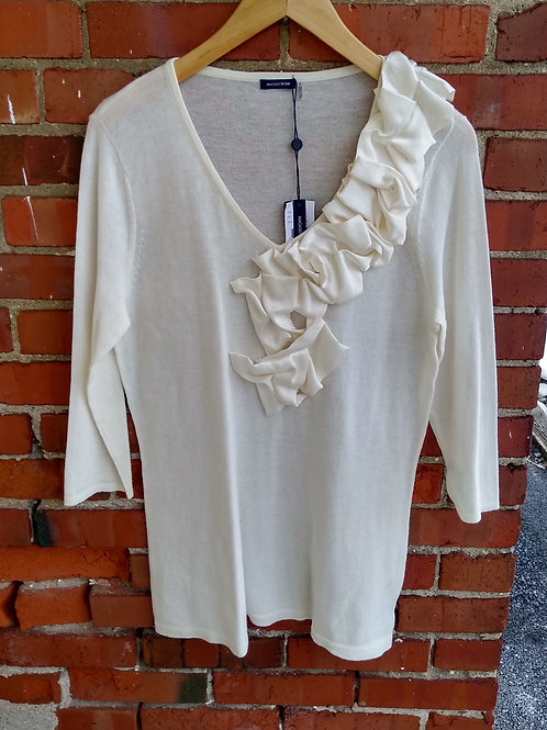 Magaschoni Cream Top, new with tags, Size XL