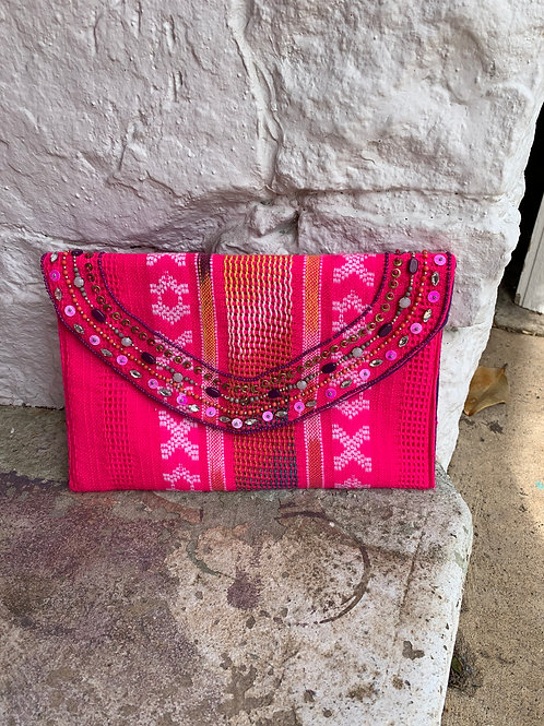 Francesca's Pink Clutch, new with tags
