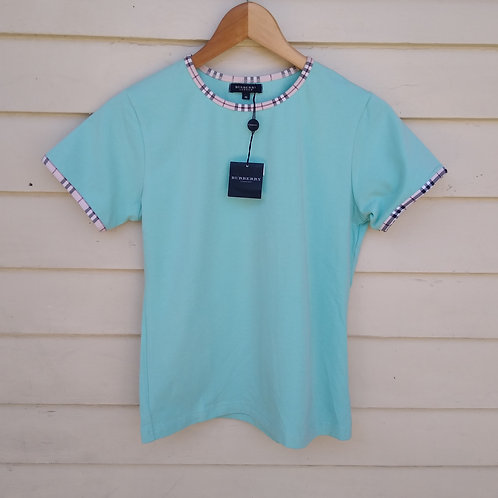 Burberry Turquoise Top, new with tags, Size S/M