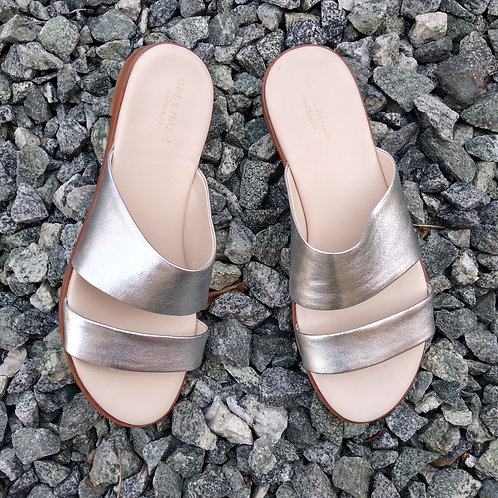 Cole Haan Silver Slides, Size 7.5
