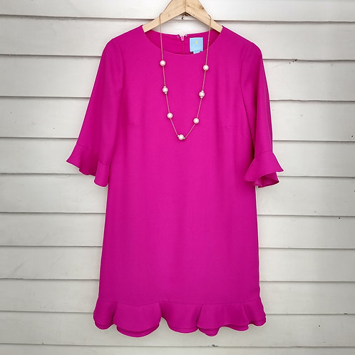 CeCe Pink Dress, Size 6; Pearl Necklace