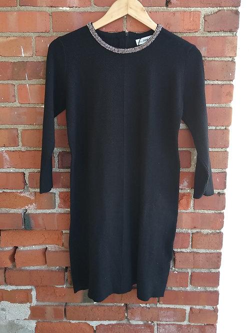 Zara Black Knit Dress, new with tags, Size M