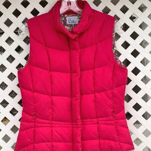 Lilly Pulitzer Pink Vest, Size S