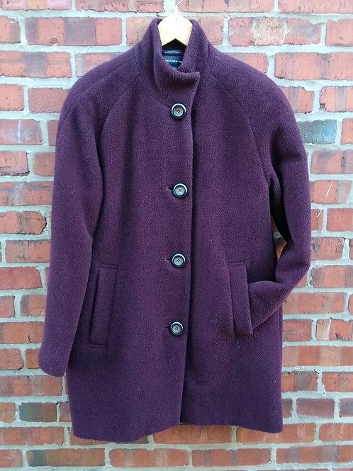Jones New York Wine Coat, Size 6