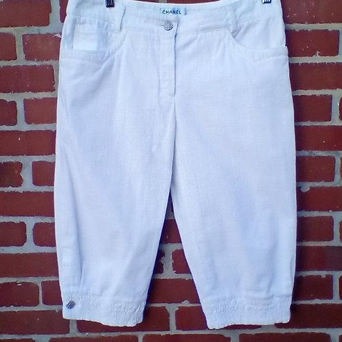 Chanel White Cropped Pants