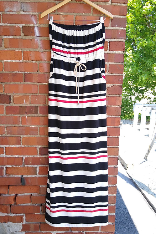 Ya Multicolored Maxi Dress with Pockets, new with tags, Size S/M