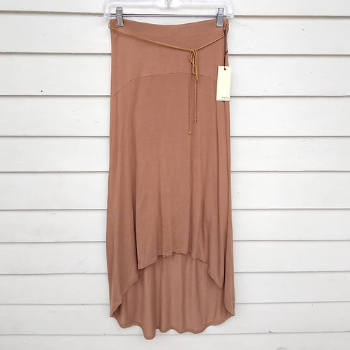 Ecru Tobacco Skirt with leather tie, new with tags, Size XS