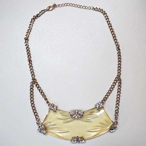 CZ & Goldtone Necklace