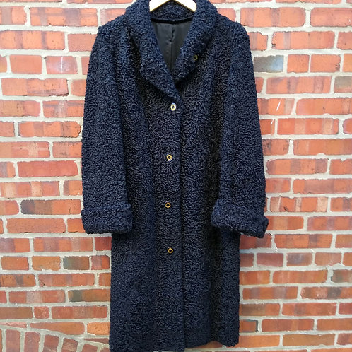 Bryn Mawr Black Persian Lamb Coat, Size M/L