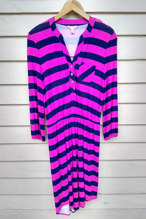 Lilly Pulitzer Pink & Navy Dress, Size XS
