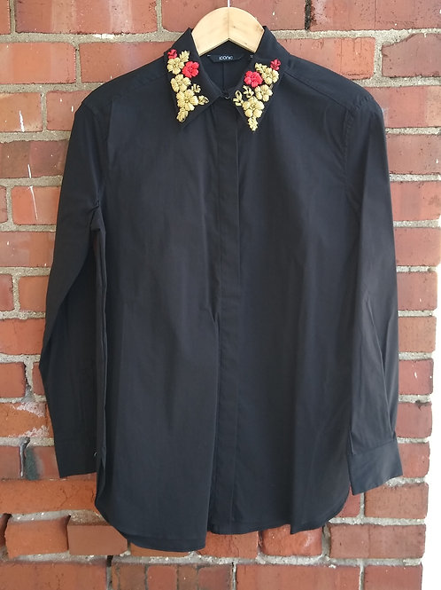 Iconic Black Shirt, Size 10