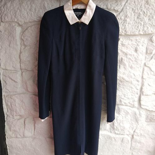 Chanel Navy Dress, Size 6