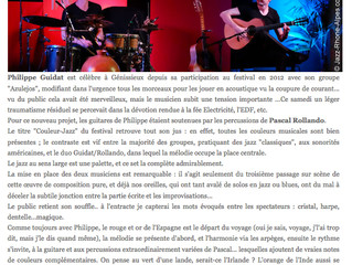 Couleur Jazz, Génissieux (26) Mars 2015