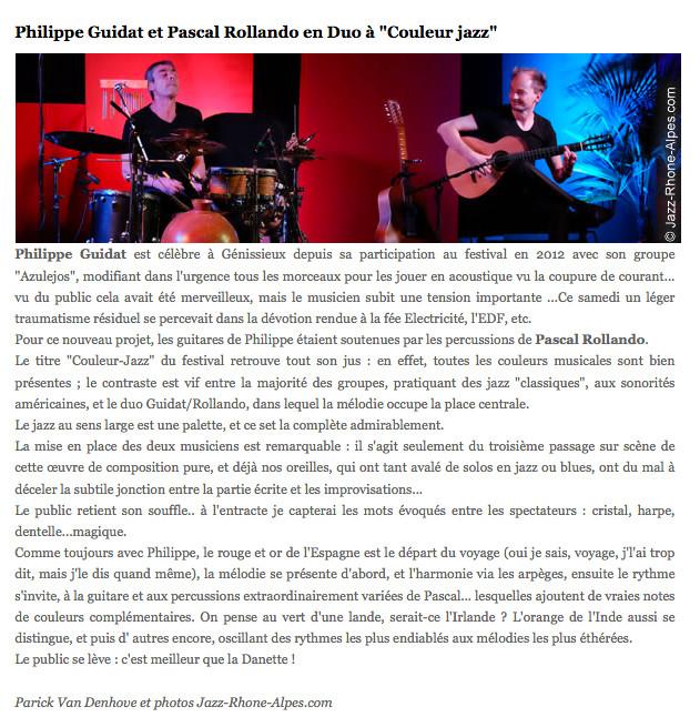 Philippe Guidat Pascal Rollando