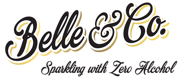Belle & Co Gold logo on transparent back
