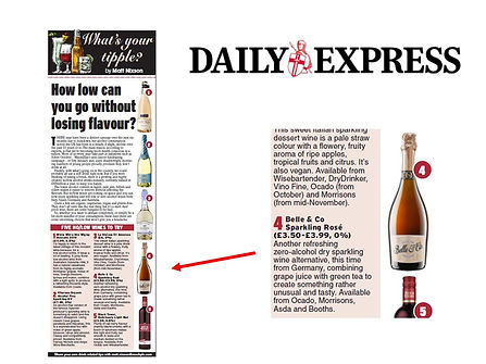 Belle & Co in Daily Express September 20