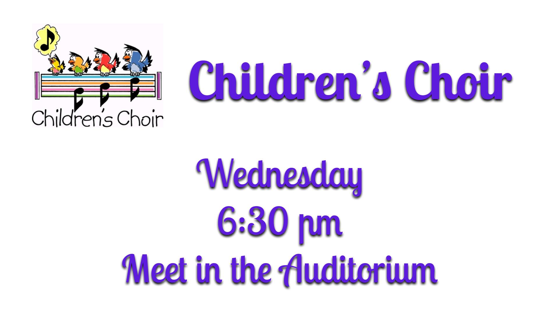 Website Announcement - Children's Choir.