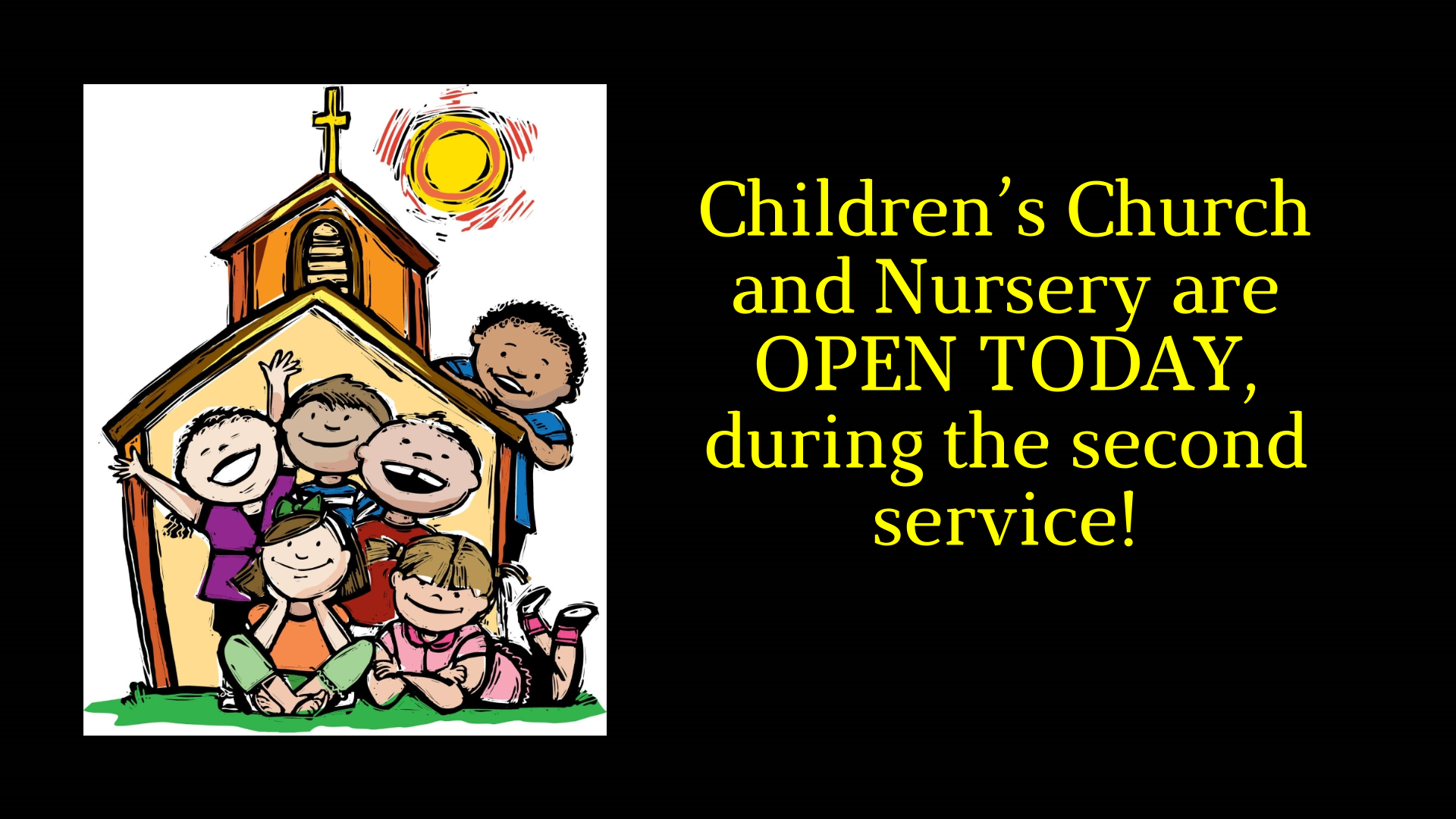 Website Announcement - Children's Church