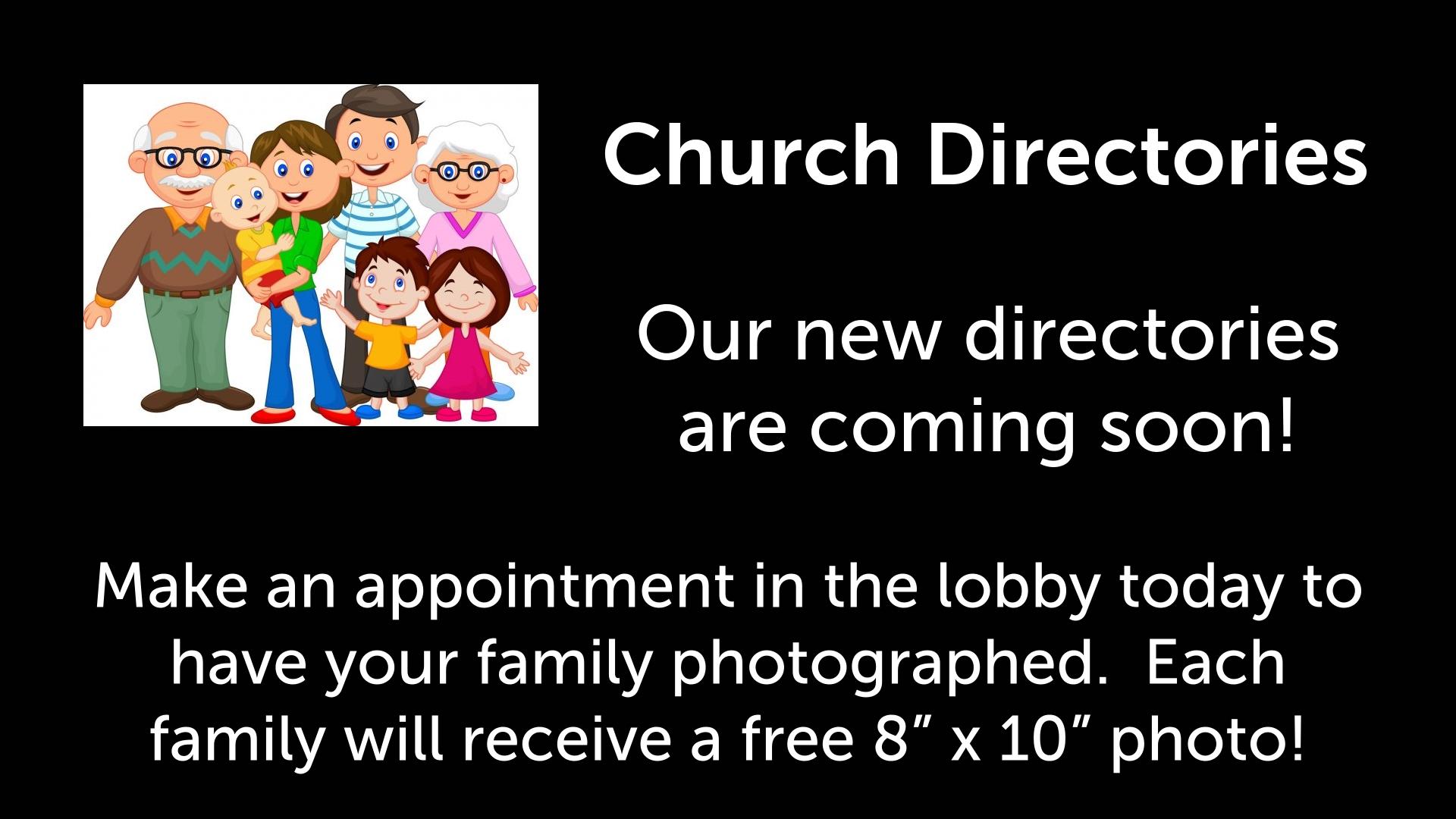 Website Announcement - Directories
