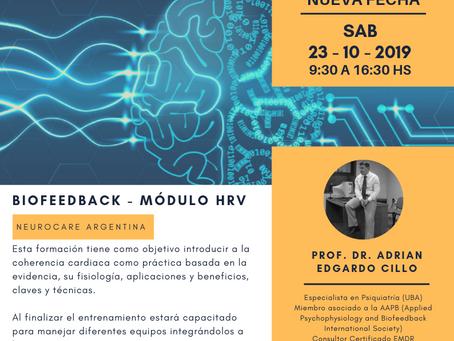 Nueva fecha de formación! Biofeedback de la Coherencia / Variabilidad Cardiaca