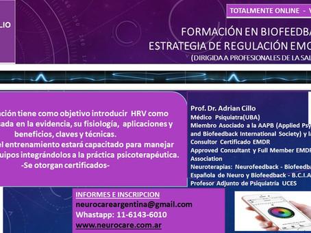 Formación online Biofeedback HRV - Estrategia de Regulación Emocional