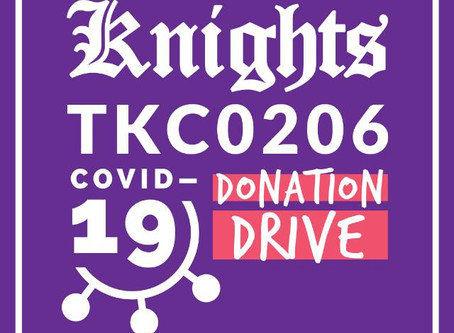 The Initiation of Knights Covid-19 Donation Drive