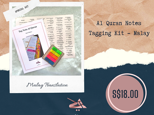 Al Quran Notes Tag Kit - Malay