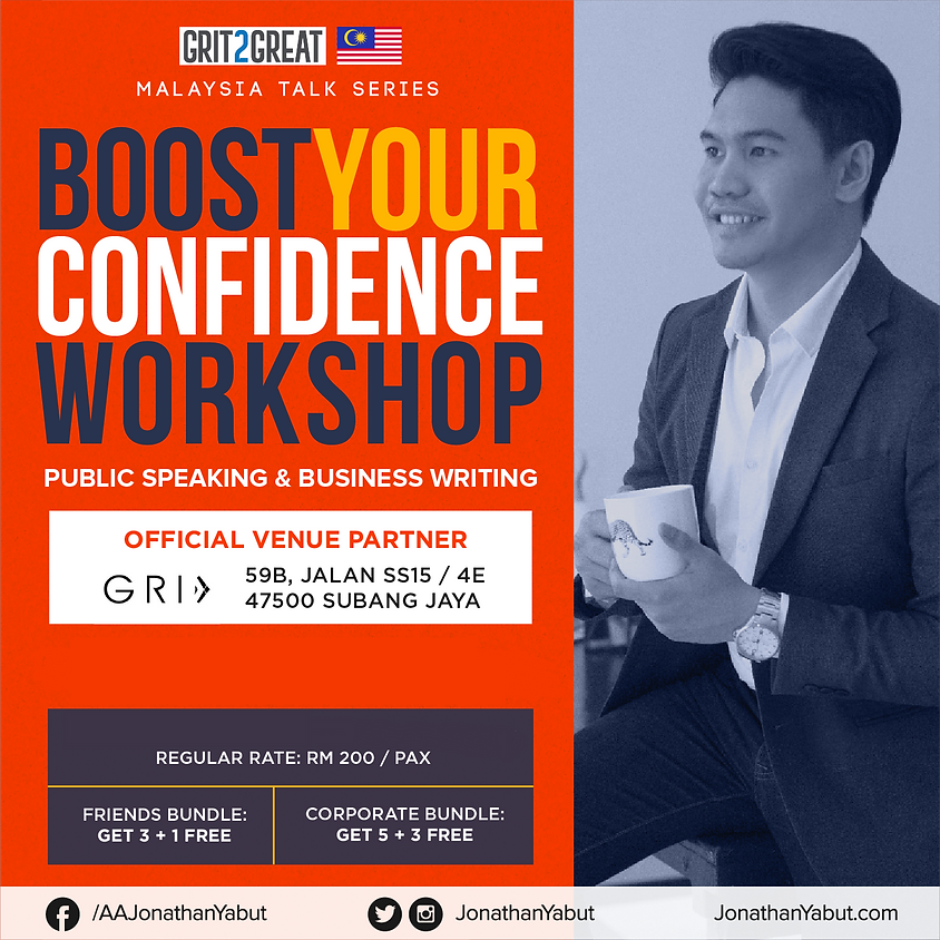 Jonathan Yabut's - Boost Your Confidence Workshop
