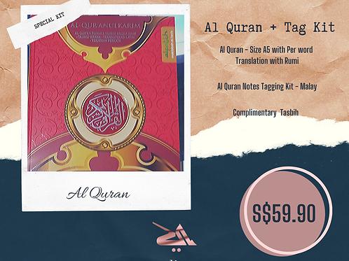 Al Quran with Rumi + Tag Kit