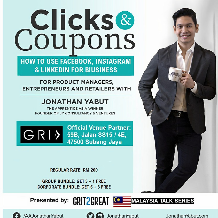 Jonathan Yabut's - Clicks & Coupons Workshop