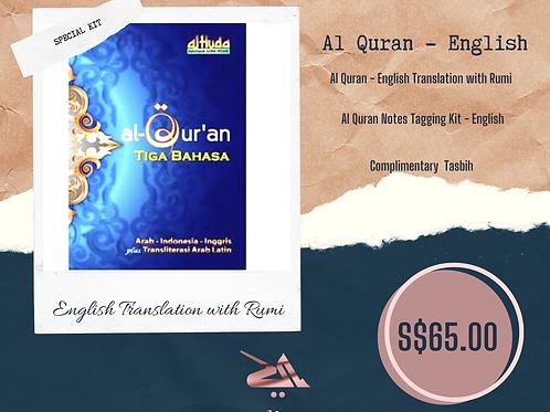 Al Quran English-Malay with Rumi + Tag Kit