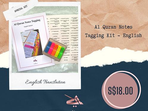 Al Quran Notes Tag Kit - English
