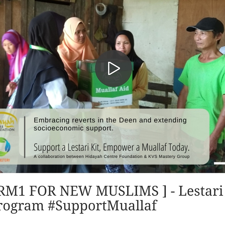 Support a Lestari Kit, Empower a Muallaf Today