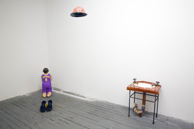 Installation view of A Curator, A Banker and A Basketball Amateur