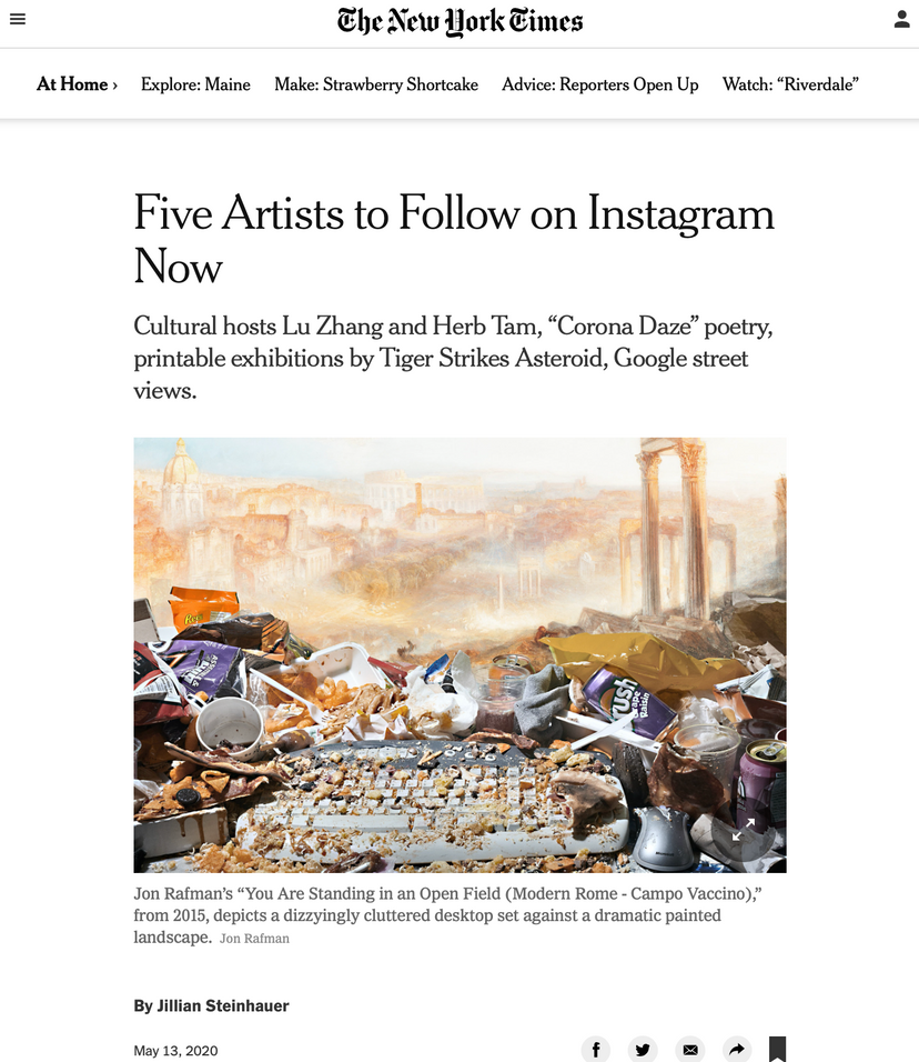 Five Artists to Follow on Instagram Now
