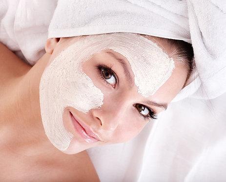 Limpeza de pele + peeling diamante + máscara LED